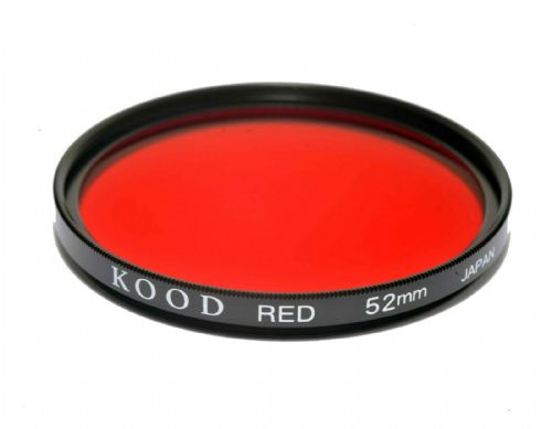 Kood High Quality Optical Glass Red Filter Made in Japan 52mm